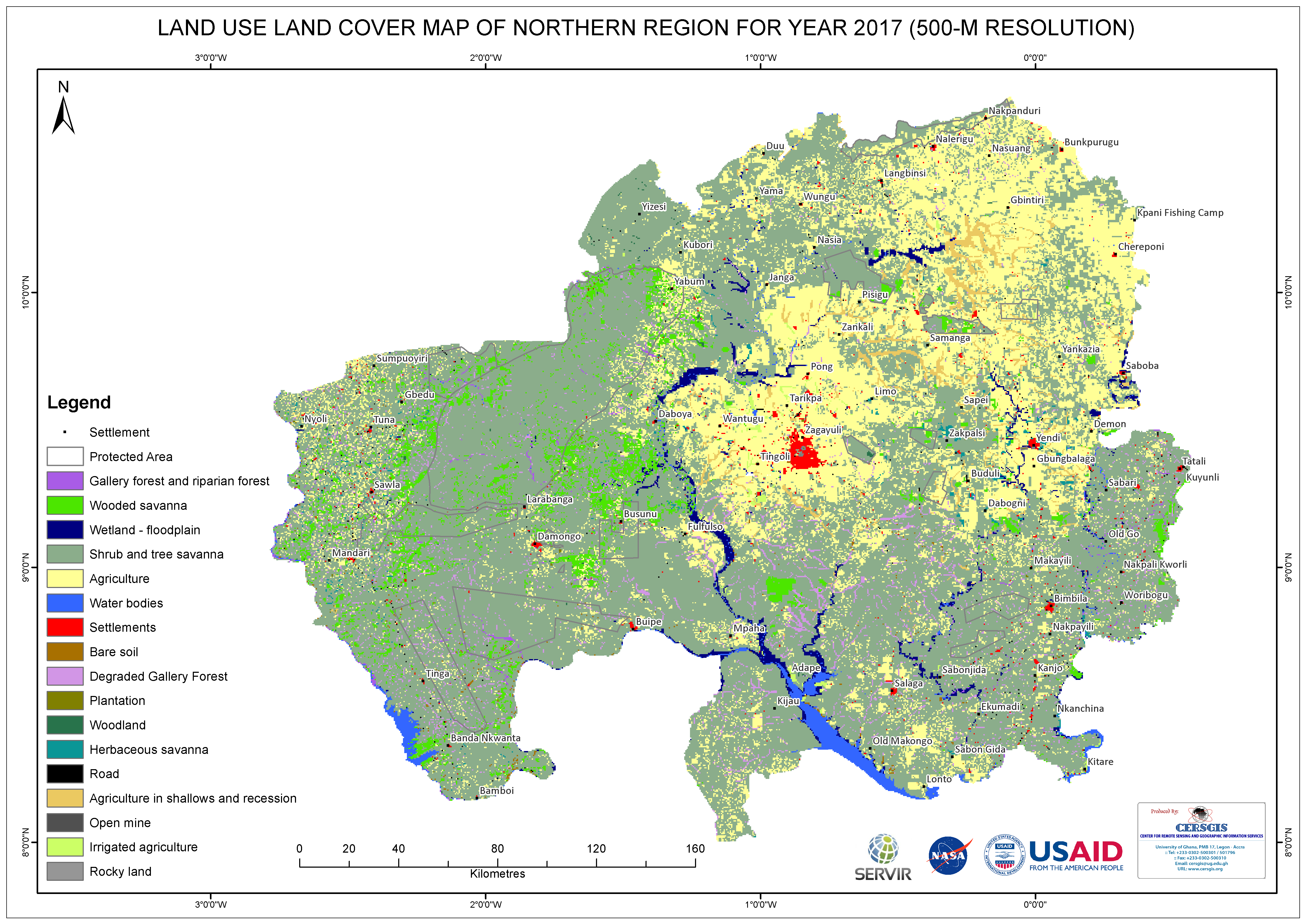 Land Cover Map for Northern Region